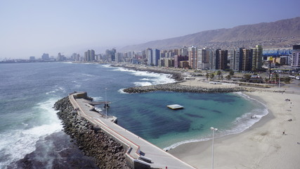 Antofagasta beach north of Chile