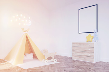 Baby's room with a tent, toned