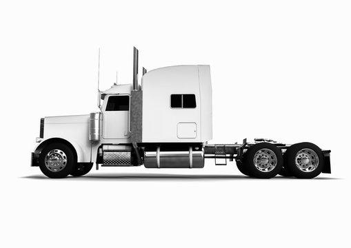 Trucks Fleet concept / 3D render image representing a fleet of trucks
