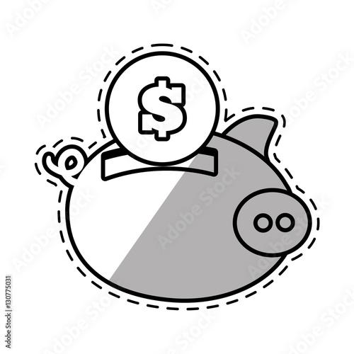 u0026quot piggy money safety bank cut shadow vector illustration