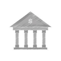 hand draw building bank money finance color vector illustration eps 10