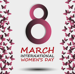 Poster of International Women's Day, Vector, Illustration