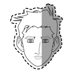 Man icon. Male avatar person people and human theme. Isolated design. Vector illustration