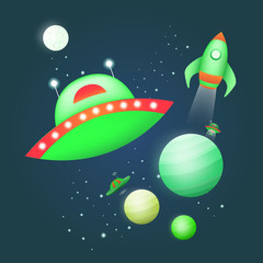 Vector illustration of space.