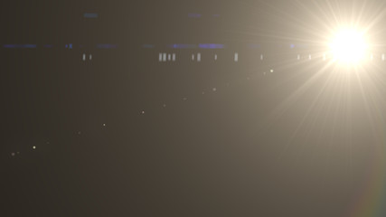Digital lens flare effect in space. on black background.