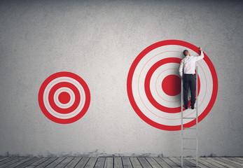 Hitting bigger business target Papier Peint