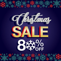 Christmas Sale background