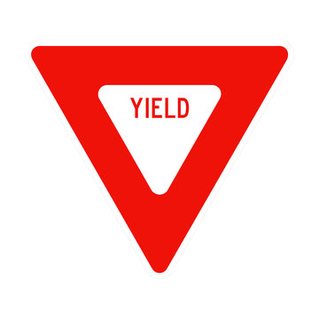 USA and Canada Yield Sign