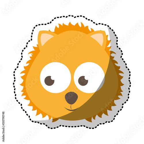 cute lion tender character vector illustration design