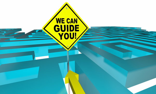We Can Guide You Out Find Direction Maze 3d Illustration