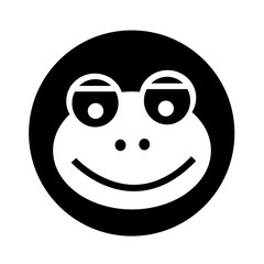 frog icon illustration design