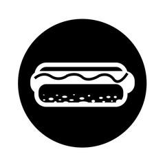 Hot dog Icon illustration design