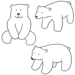 vector set of polar bear