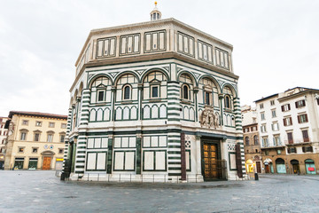 Florence Baptistery on Piazza San Giovanni