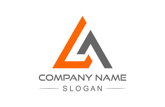 abstract triangle line logo
