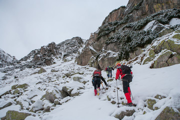 Alpinism in Mountains. Tatra. Ko?cielec.