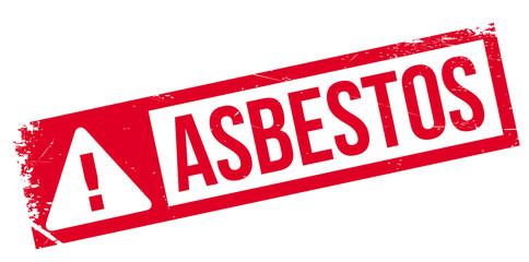 Asbestos rubber stamp