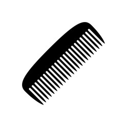 Comb icon. Black icon isolated on white background. Comb silhouette. Simple icon. Web site page and mobile app design vector element.