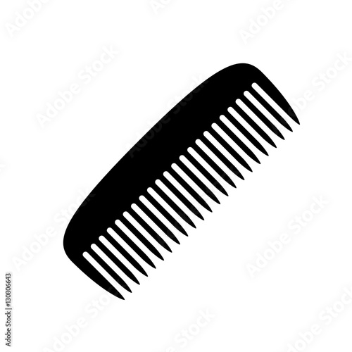 Comb icon  Black icon isolated on white background  Comb silhouette