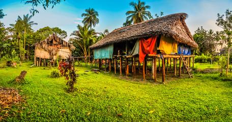Wooden houses in Avatip
