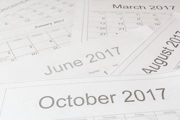 Analysis of a calendar