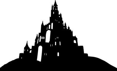 城のシルエット