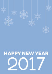 new year 2017 creative blue background for calendar cover o post