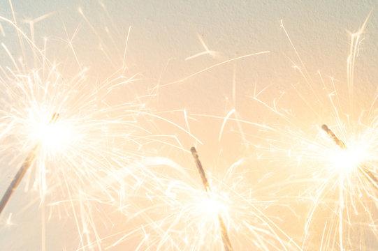 sparkler on the white background