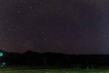 landscape star on sky at night