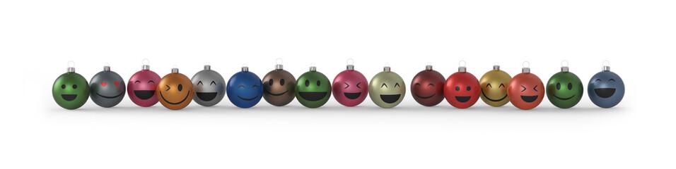 Viele bunte Weihnachtskugeln