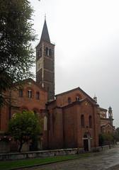 san eustorgio Milan in the rain
