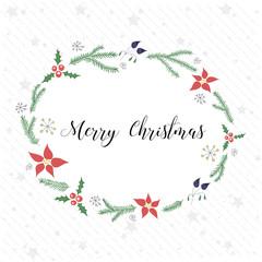 Christmas Wreath Print Design