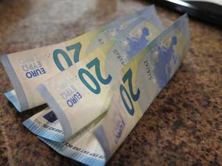 Three Twenty Euro Notes