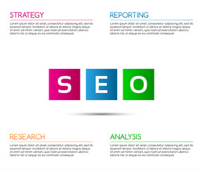 Minimalistic seo infographic template for your business project,