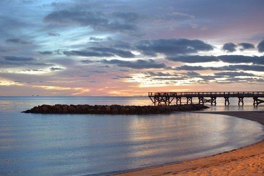 daybreak at yorktown beach