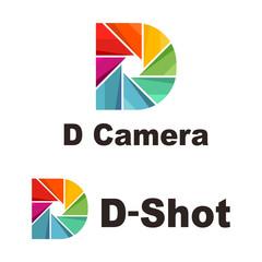Rainbow Colorful D Letter Camera Shutter Shot