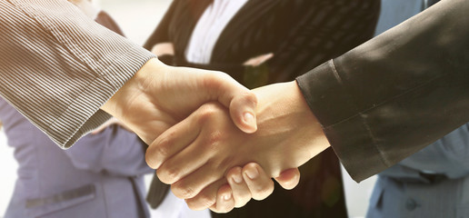 Handshake. The conclusion of the transaction
