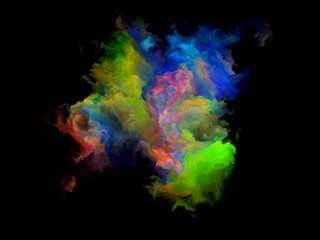 Colorful Fractal Cloud Particle