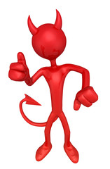 The Original 3D Character Illustration Devil