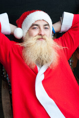 Cheerful Santa. New Year concept.