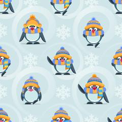 pattern with cute penguins