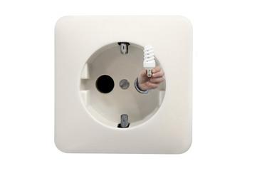 saving energy with light bulb