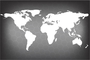 3d globe map in gray world map blank in gray world map vector see more gumiabroncs Image collections