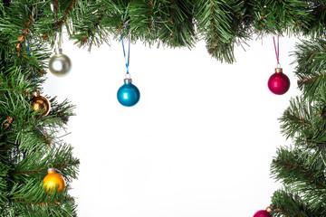 Festive fir tree with toys