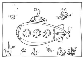 Ausmalbild U-Boot