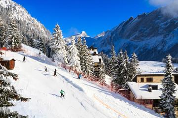 Wintersport in der Schweiz, Villars-sur-ollon.