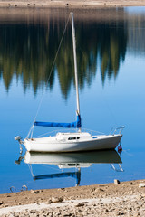 Sailboat Docked at Shore 2