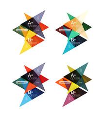 Vector colorful arrow option infographics templates set
