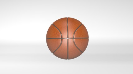 Basketball, ball, sports equipment isolated on white background