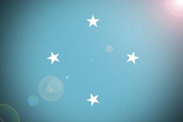 Micronesia flag illustration symbol. Federated states of micronesia